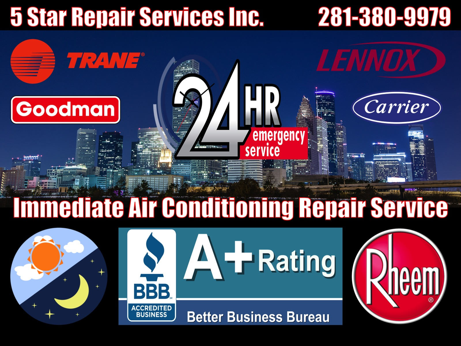 24 Hour Emergency Air Conditioning AC HVAC Furnace Condition Repair Service Spring 77382 77380 77379 77373 77383 77386 77388 77389 77391 77393 Central Cooling Unit System Duct Cleaning Maintenance